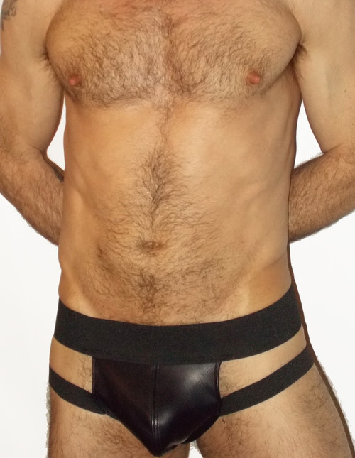 Front Strap Pouch Leather Jockstrap