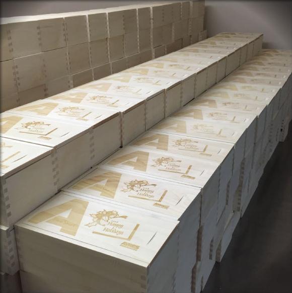 laser engraved wooden boxes