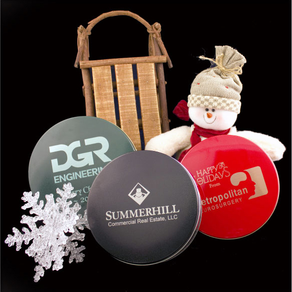 custom engraved tins for holiday gifts