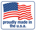 Red white and blue Made in USA flag logo signifies that all Flexabeds are proudly made in the United States of America.