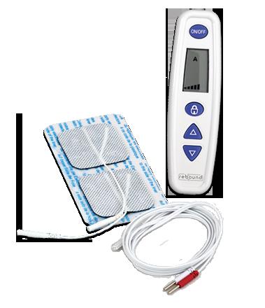 Image of the REBOUND Health TENS non-prescription pain relief device