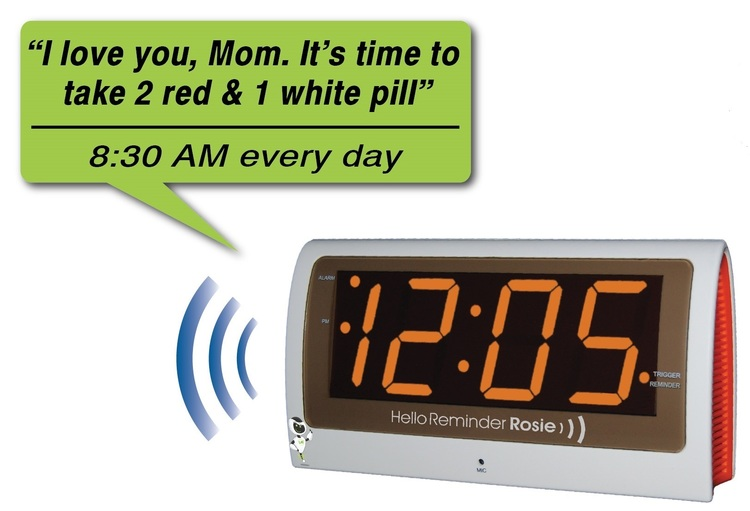Image of Reminder Rosie 25-Alarm Voice Controlled Clock by LifeAssist