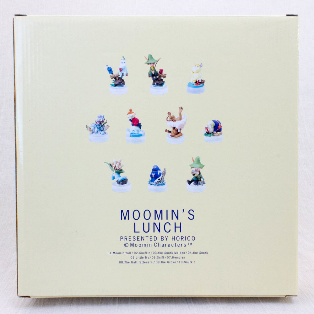 Moomin's Lunch Kaiyodo Moomin Mini Vignette Figure 10pc Collection Gold Color