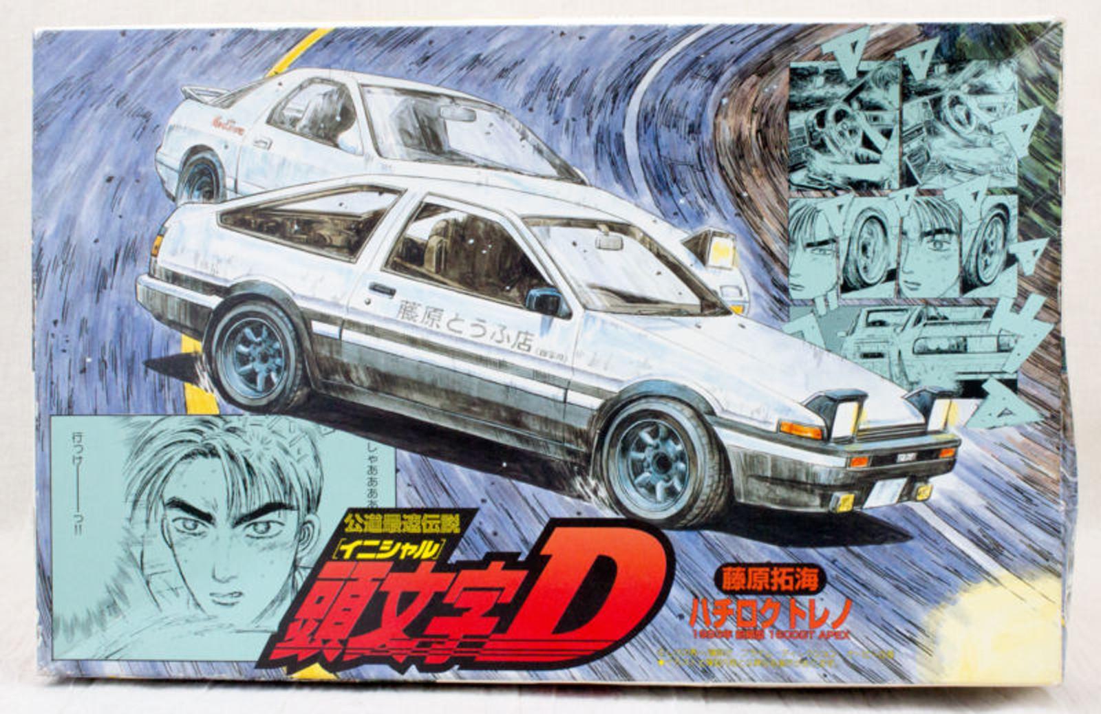 Initial D Plastic Model kit Toyota Sprinter AE86 1600GT 1/24 Scale JAPAN ANIME