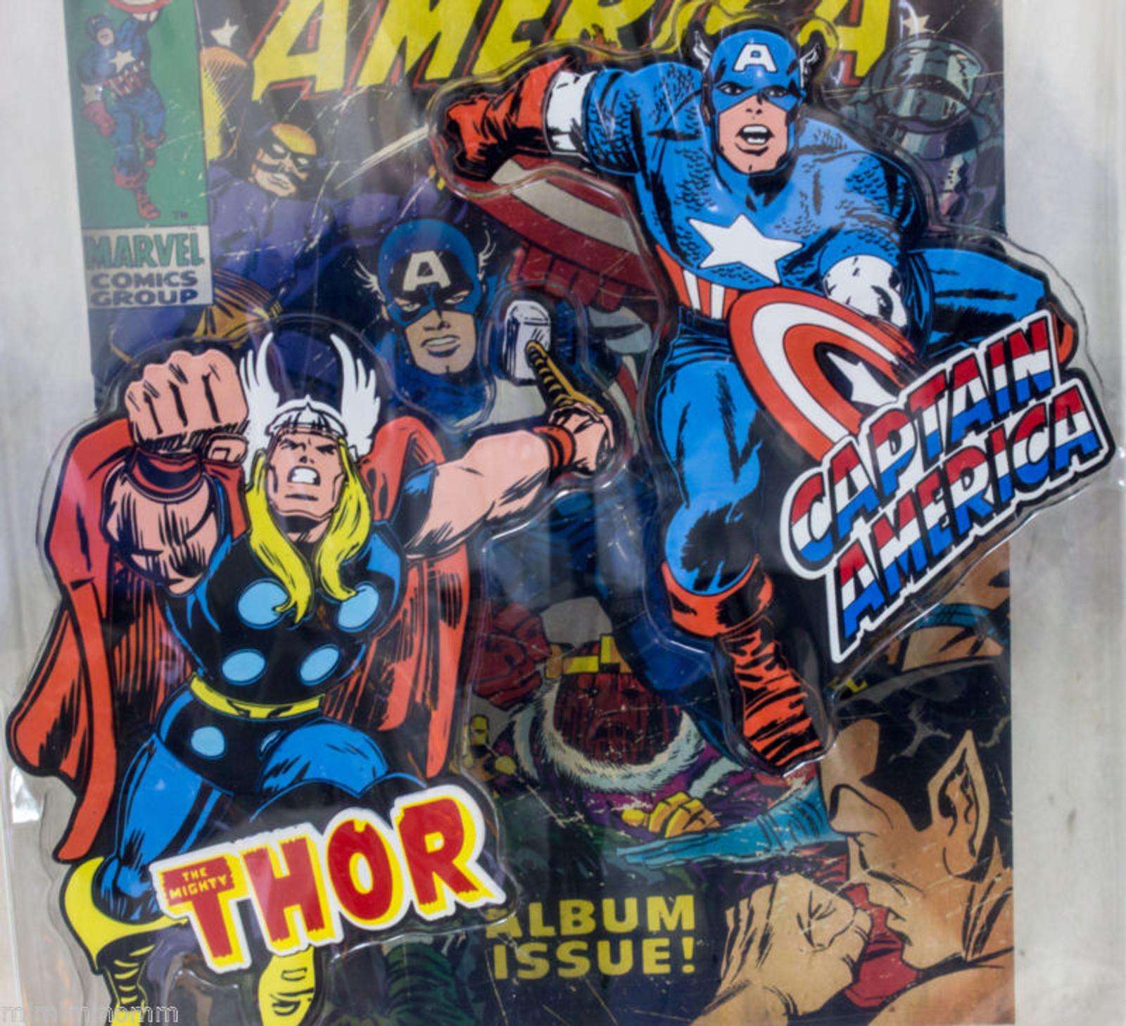 Marvel Rubber Magnet Captain America & Mighty Thor Banpresto JAPAN ANIME COMICS