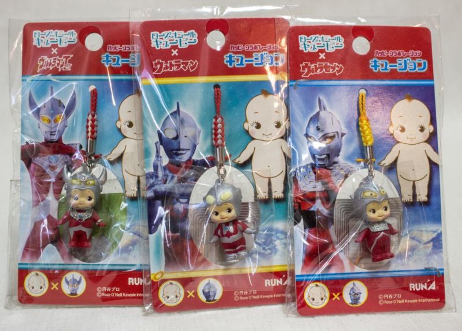 Set of 3 Ultraman Rose O'neill Kewpie Kewsion Strap JAPAN ANIME