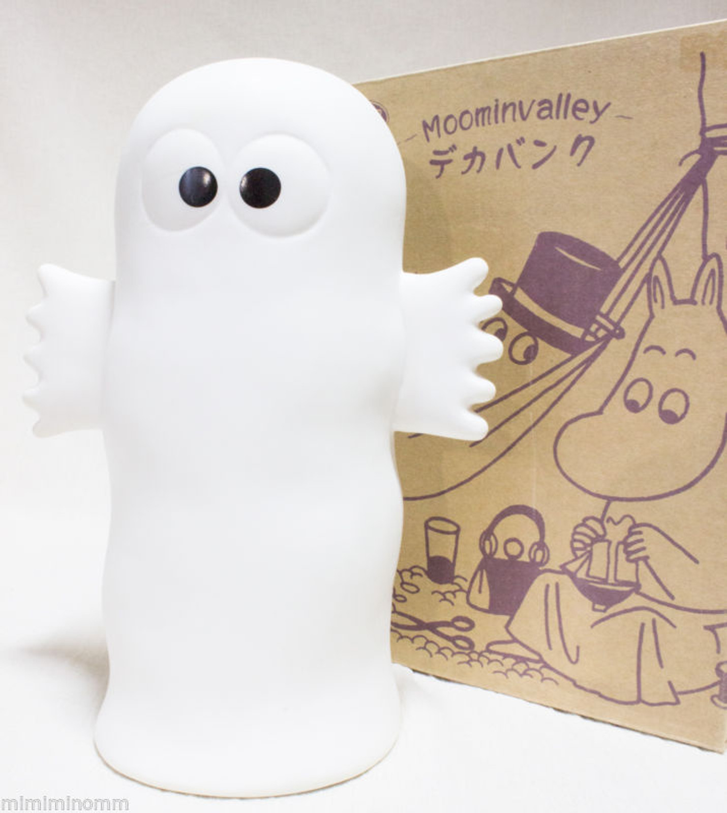 "Moomin Valley Nyoro Nyoro 9"" Big Coin Bank Figure JAPAN ANIME"