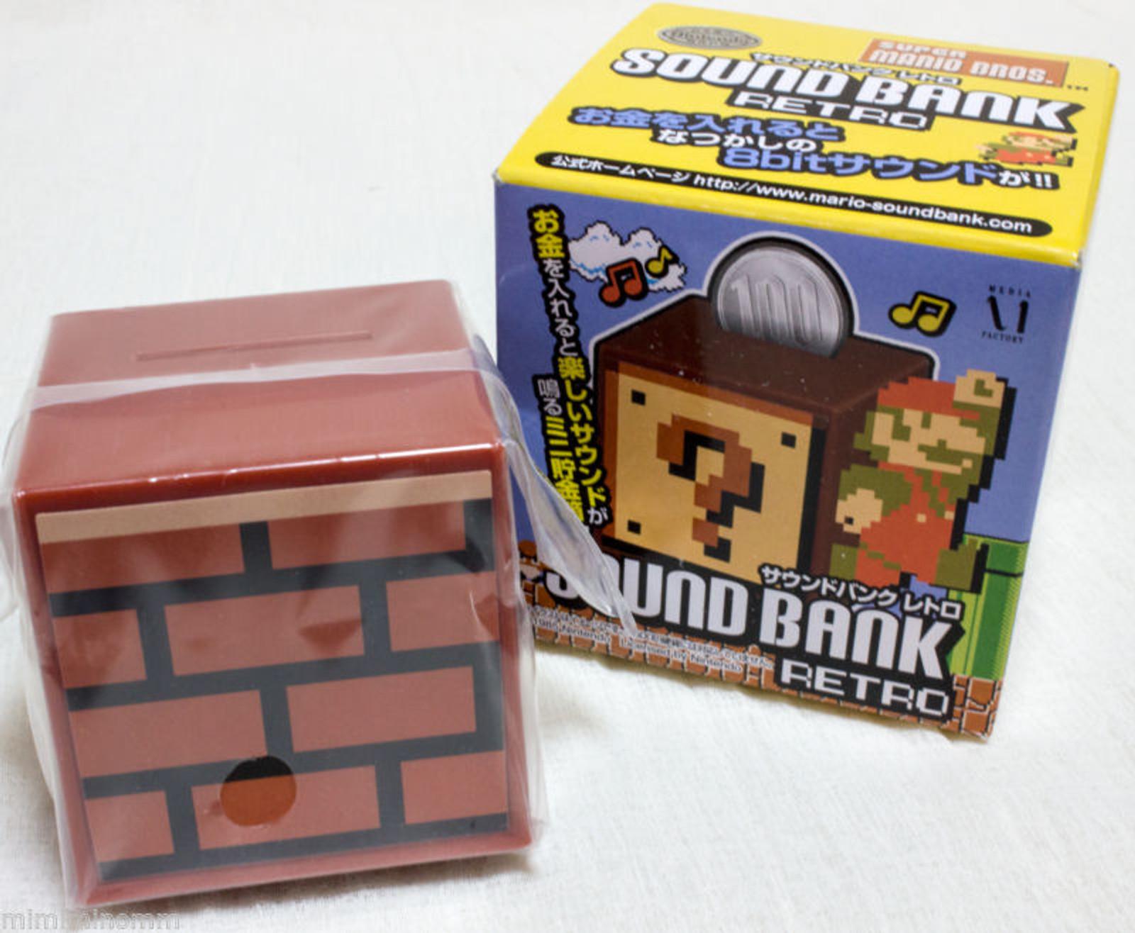 Super Mario Bros. Sound Bank Retro Brick Block Figure JAPAN NES