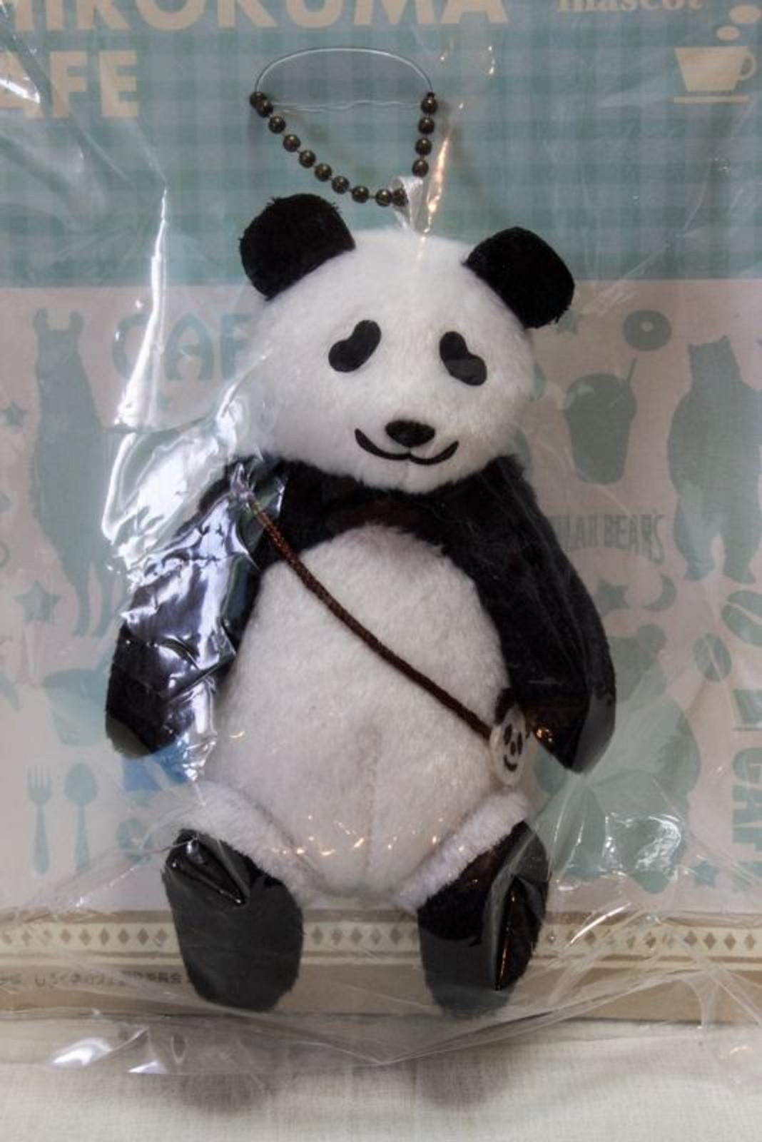 Shirokuma Cafe Panda kun Plush Doll Mascot Ball Chain Ichiban Kuji JAPAN ANIME