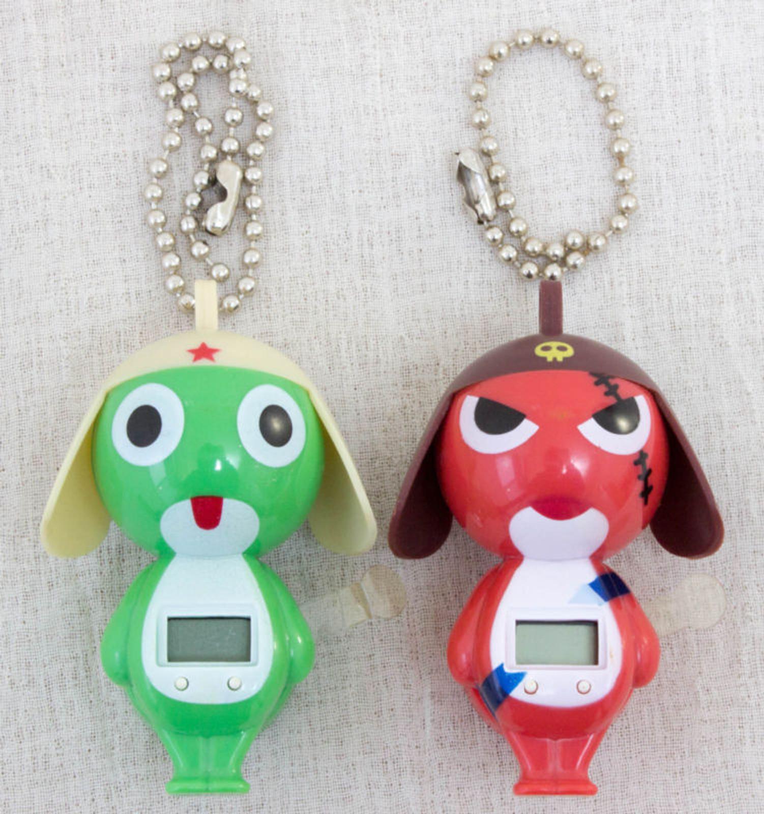 Keroro Gunso Keroro & Geroro Figure type Watch w/ Ball chains JAPAN ANIME MANGA