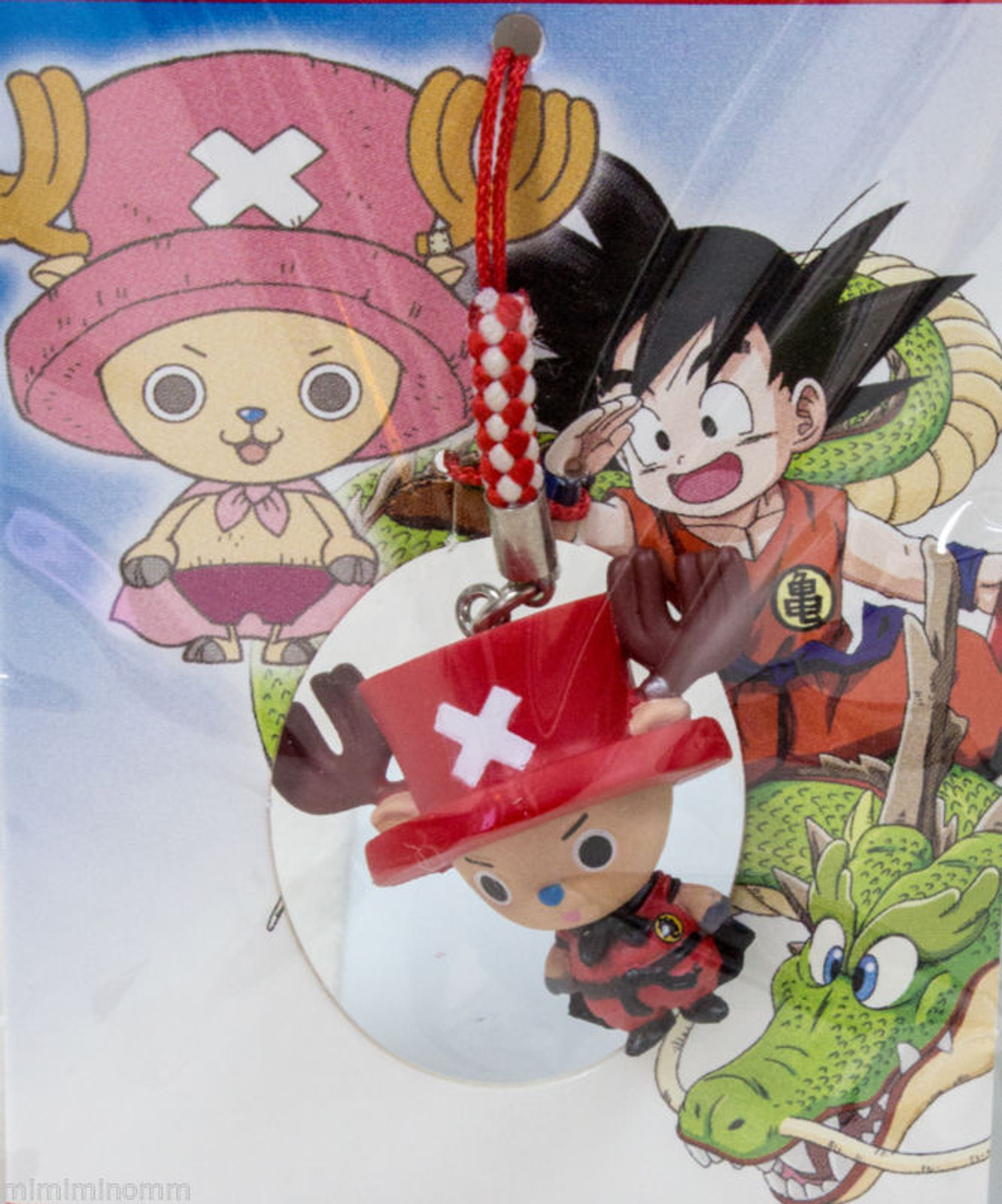 Dragon Ball Z x ONE PIECE Chopper Man x Son Gokou (boy) Figure Strap JAPAN ANIME