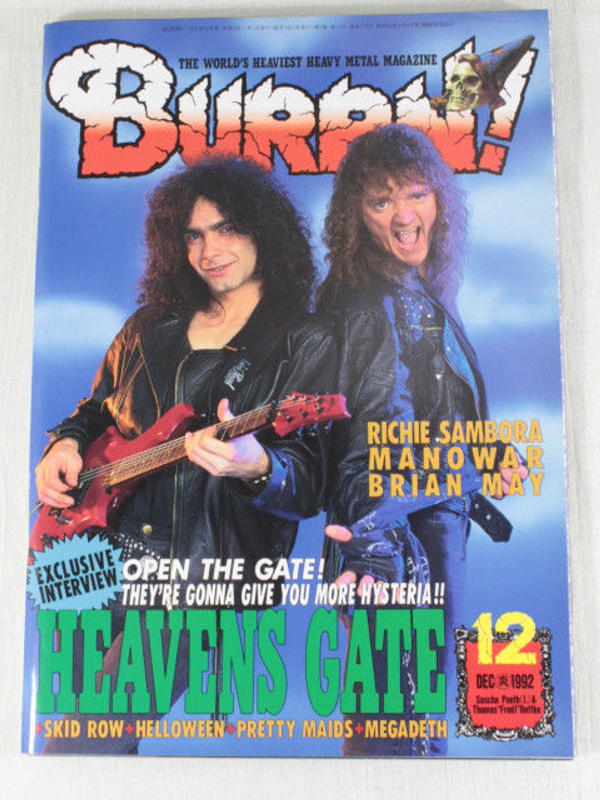 1992/12 BURRN! Japan Rock Magazine HEAVENS GATE/BRIAN MAY/MANOWAR/RICHIR SAMBORA
