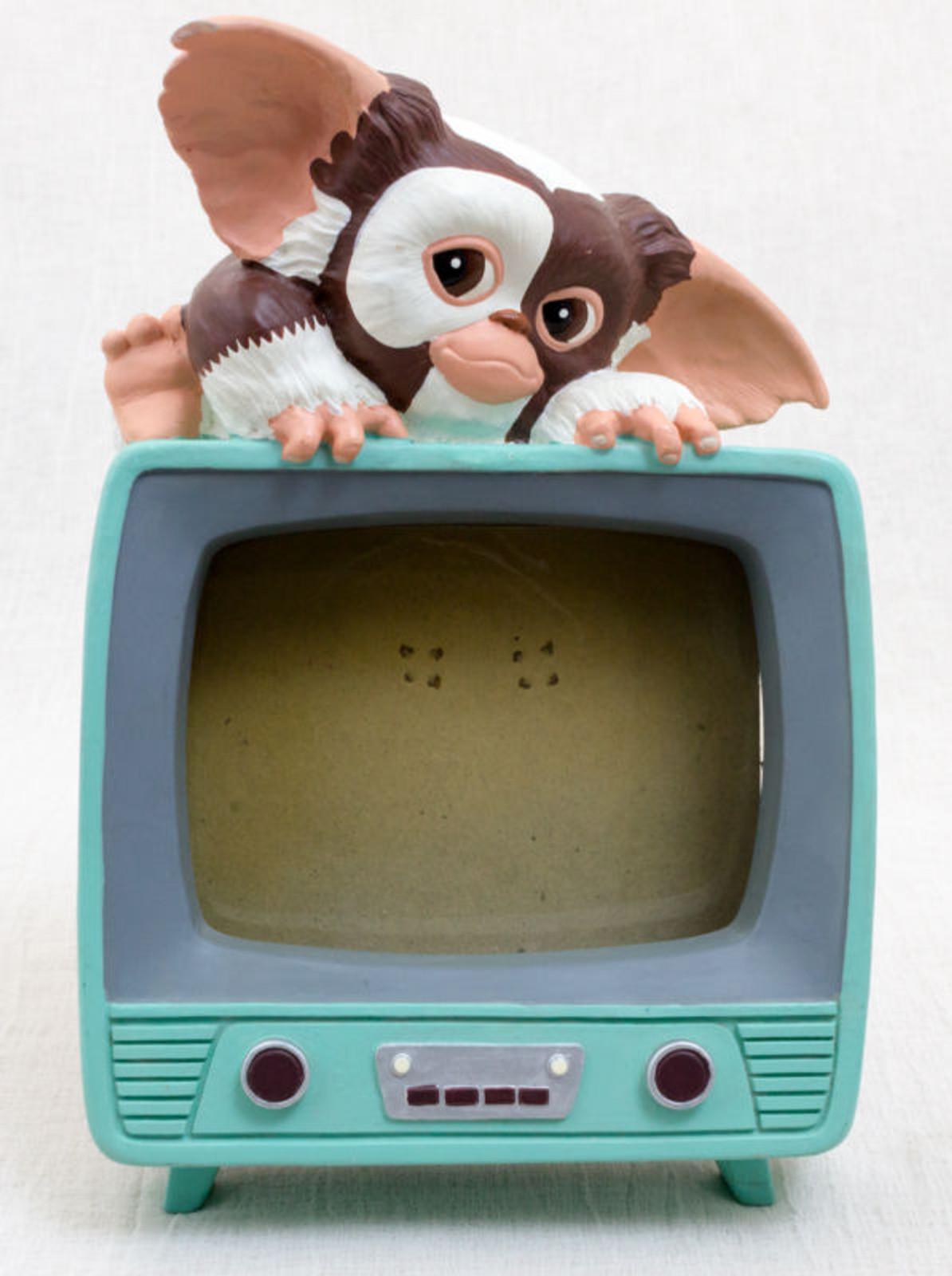 RARE! Gremlins GIZMO Photo Frame Green TV Ceramic Figure JUN Planning JAPAN