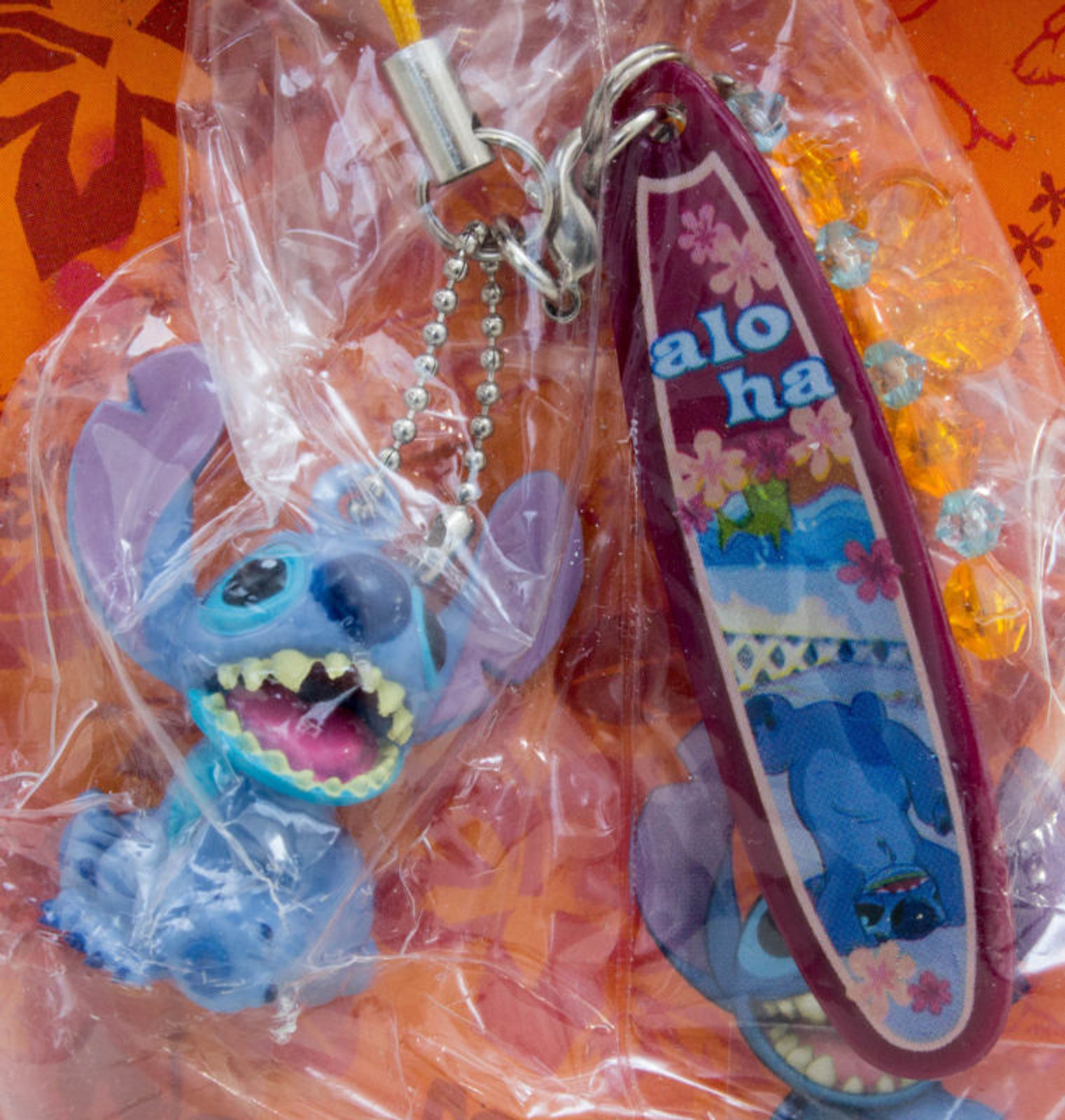 Disney Stitch with Surfboard Mascot Figure Strap SEGA JAPAN ANIME