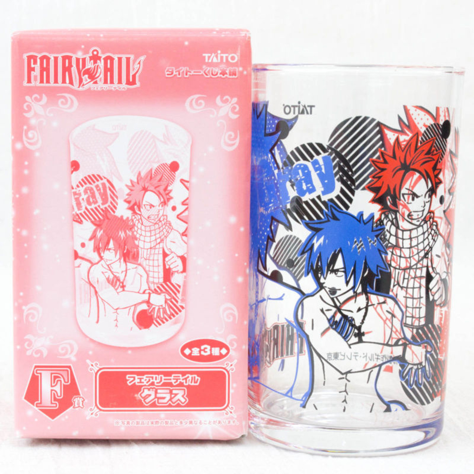 FAIRYTAIL Natsu Gray Visual Art Glass Banpresto JAPAN ANIME MANGA