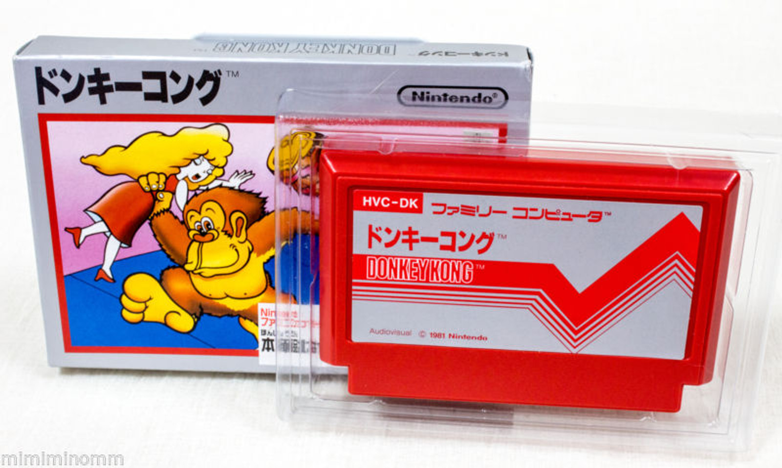 Nintendo DONKEY KONG NES Famicom Casette Type Accessory case JAPAN GAME