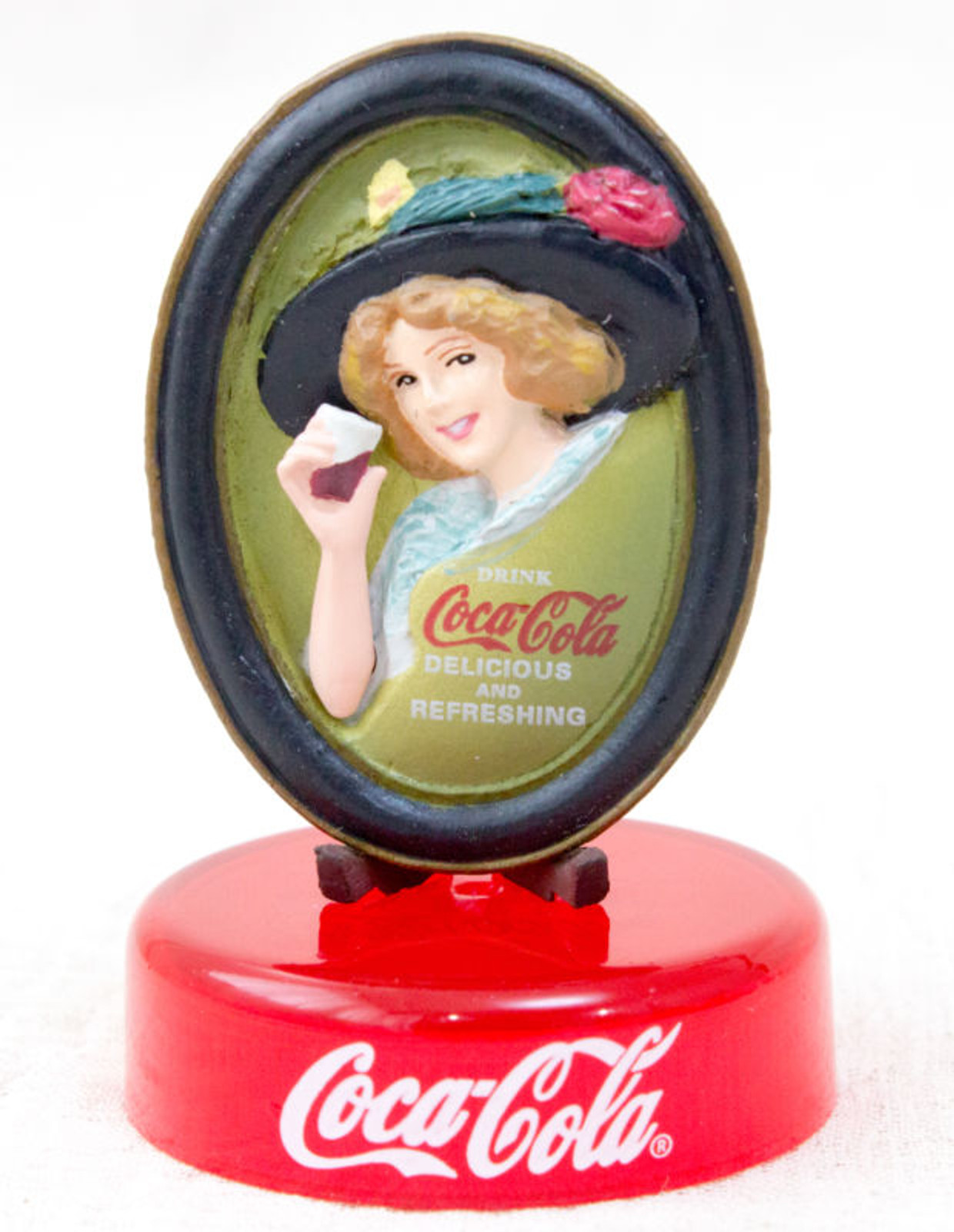 Coca-Cola Graffiti A Woman in The Change Tray Toy Miniature Figure Kaiyodo JAPAN