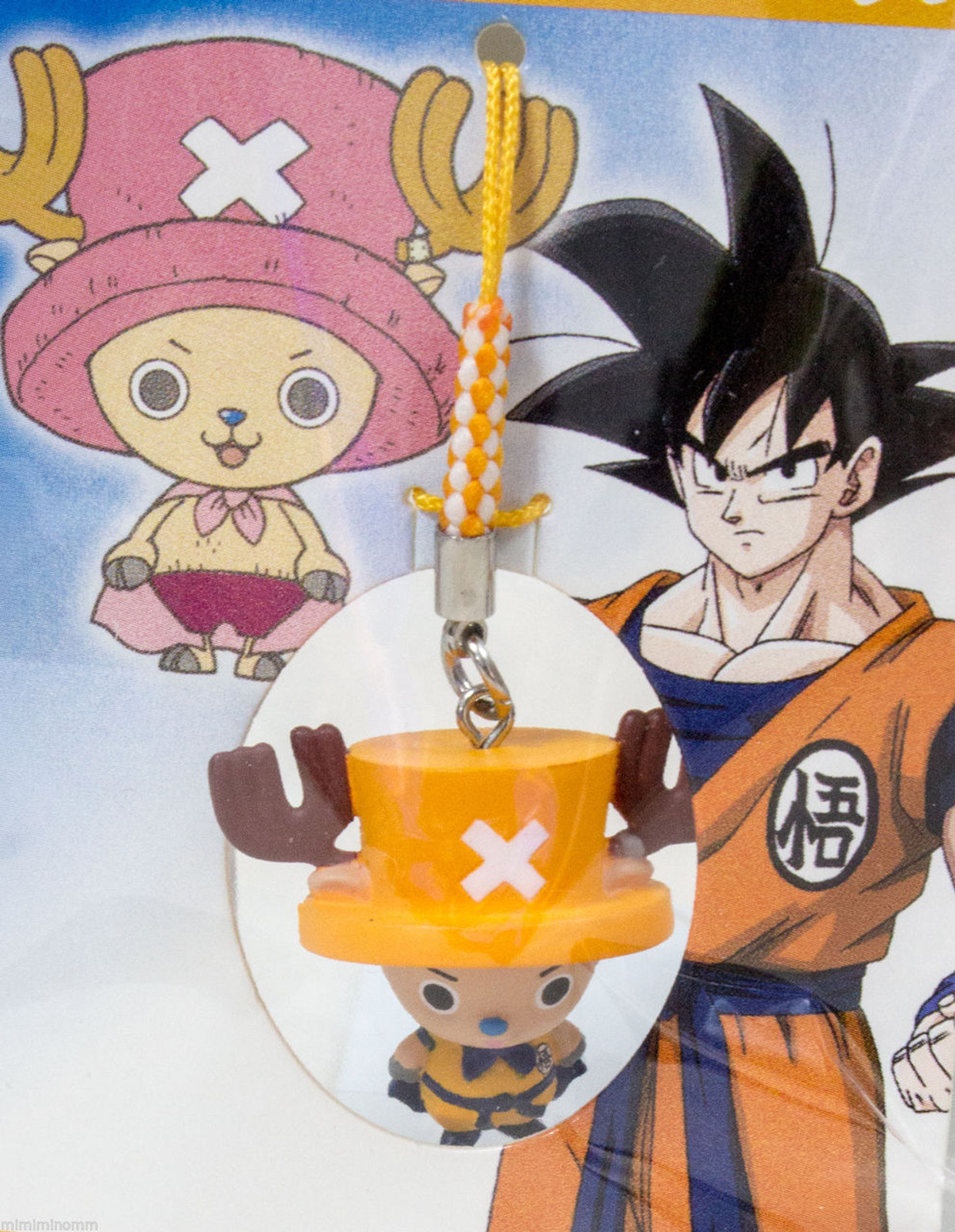 Dragon Ball Z x ONE PIECE Chopper Man x Son Gokou Figure Strap  JAPAN ANIME