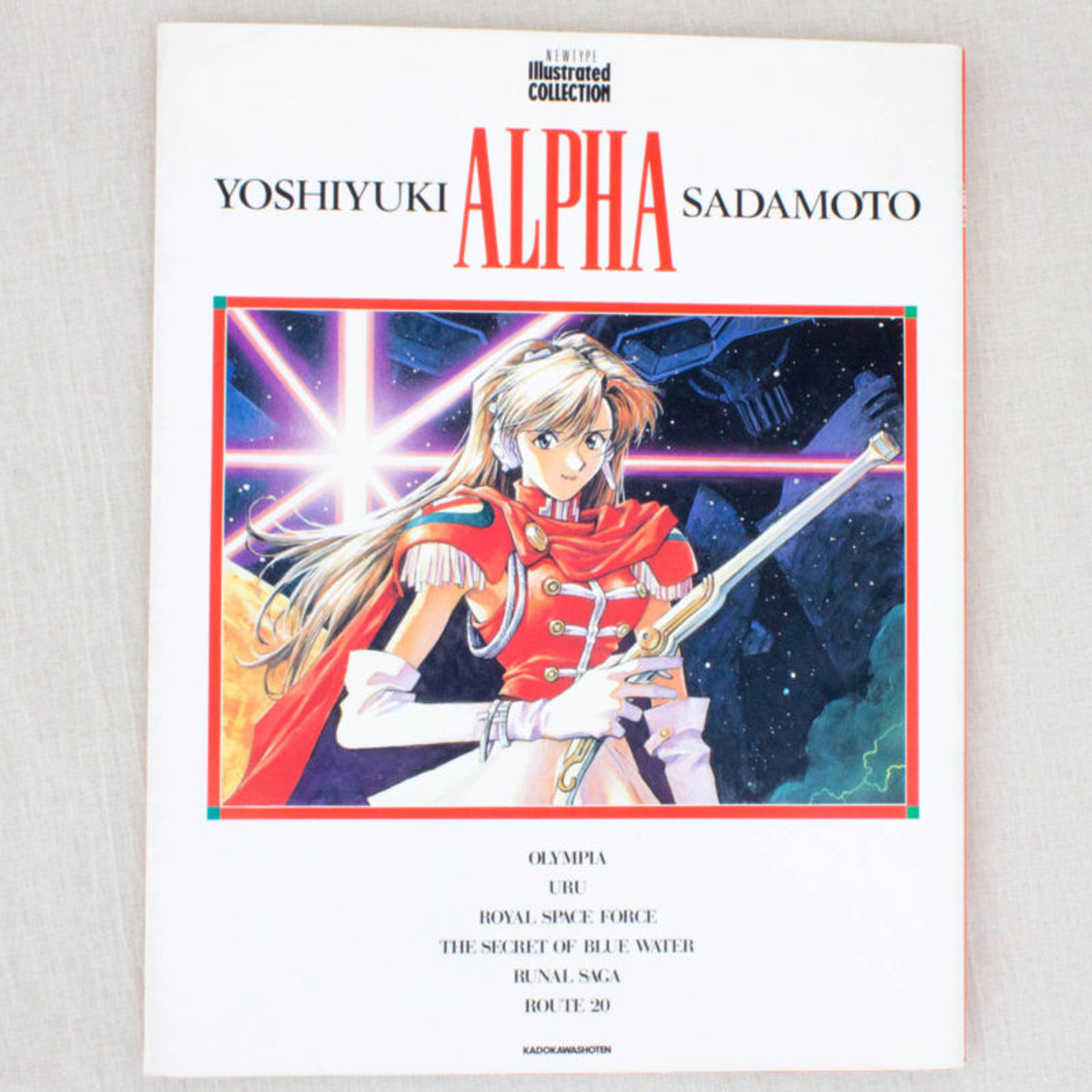 ALPHA Yoshiyuki Sadamoto Art Book JAPAN ANIME NADIA Secret of Blue Water EVA
