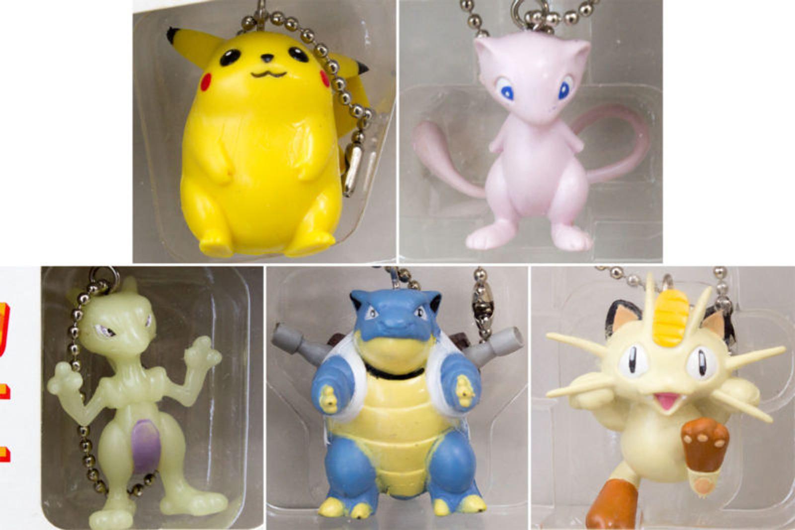 Pokemon Figure Keychain 5pc Set 1998 JAPAN ANIME MANGA POCKET MONSTERS
