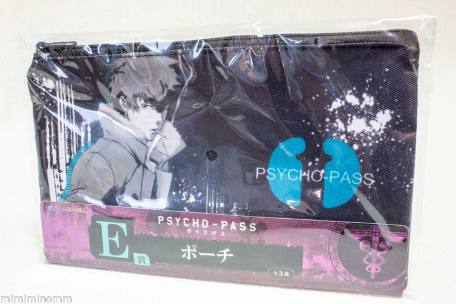 Psycho-Pass Shinya Kougami Shogo Makishima Pouch Mini Bag Taito Kuji JAPAN ANIME