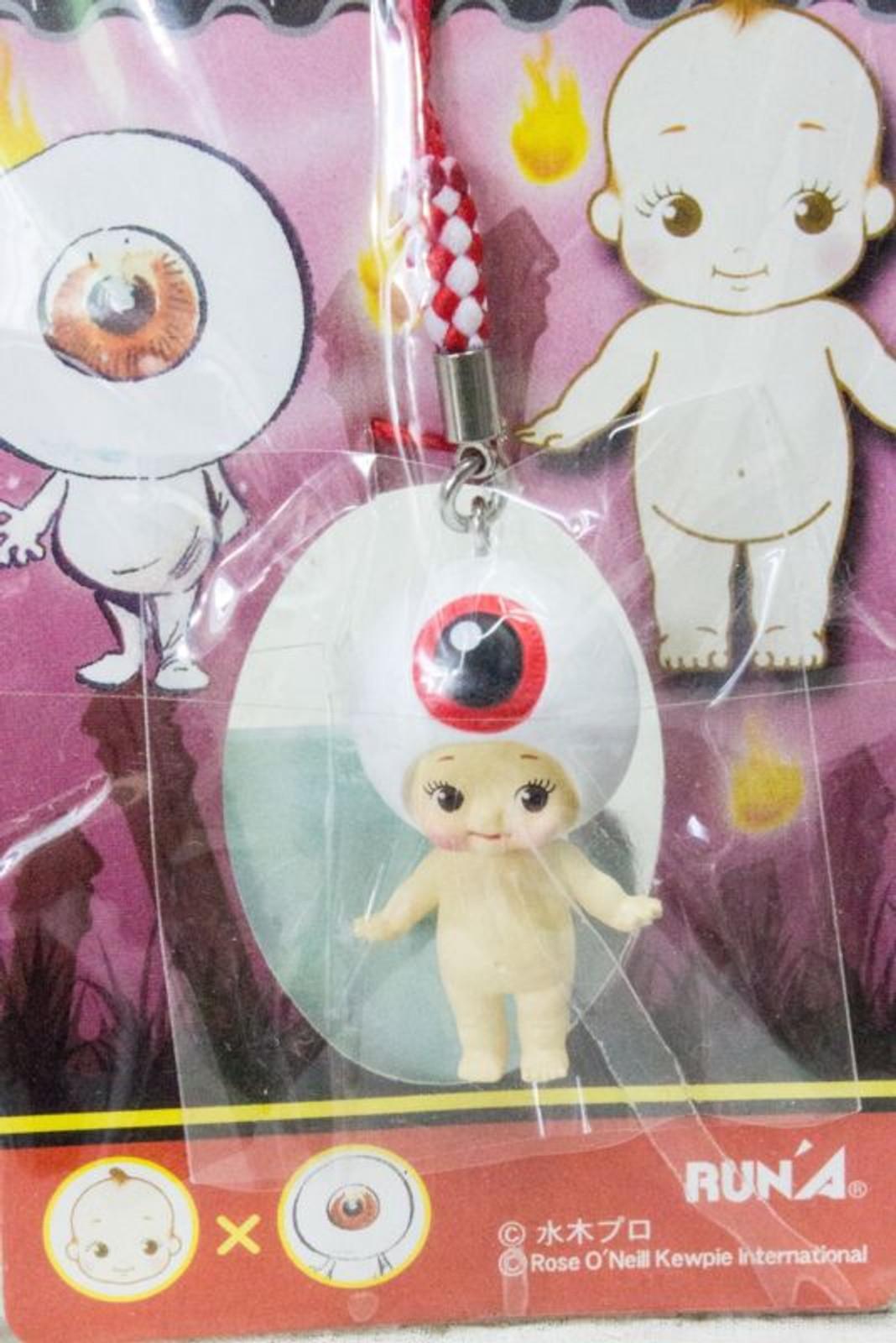 Gegege no Kitaro Medama Oyaji Rose O'neill Kewpie Kewsion Strap JAPAN ANIME