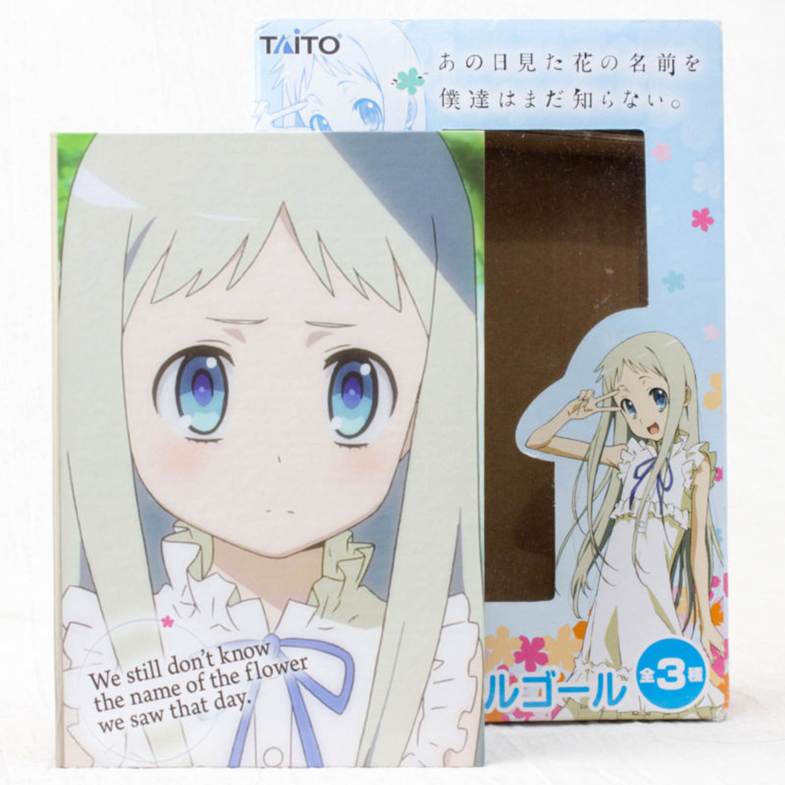 """Anohana Book type Music Box """" Dear Love """" Flower We Saw That Day Taito JAPAN"""