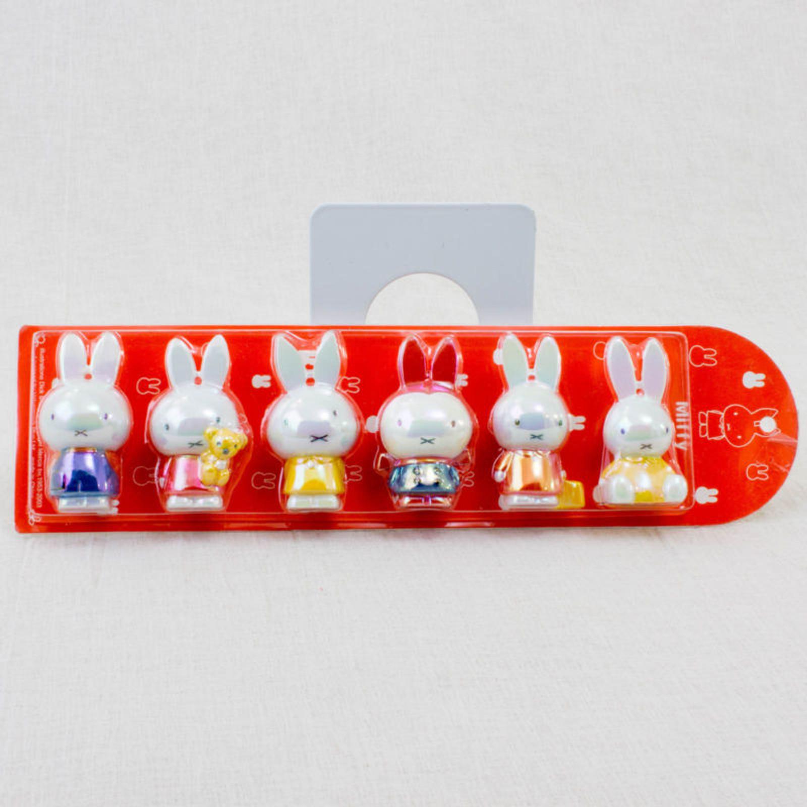 Miffy Mini Figure 6pc Set Dick Bruna JAPAN RABBIT