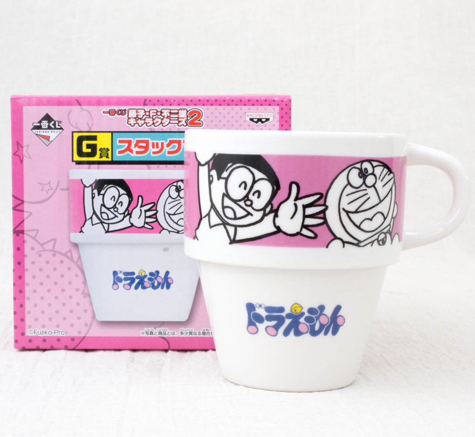 Fujiko F Fujio Characters Stacking Mug Cup Doraemon Nobita JAPAN ANIME MANGA