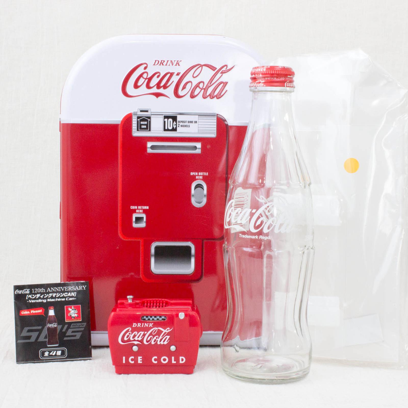 Coca-Cola Vending Machine Miniature 50's Ver + Cooler Box type FM Radio JAPAN