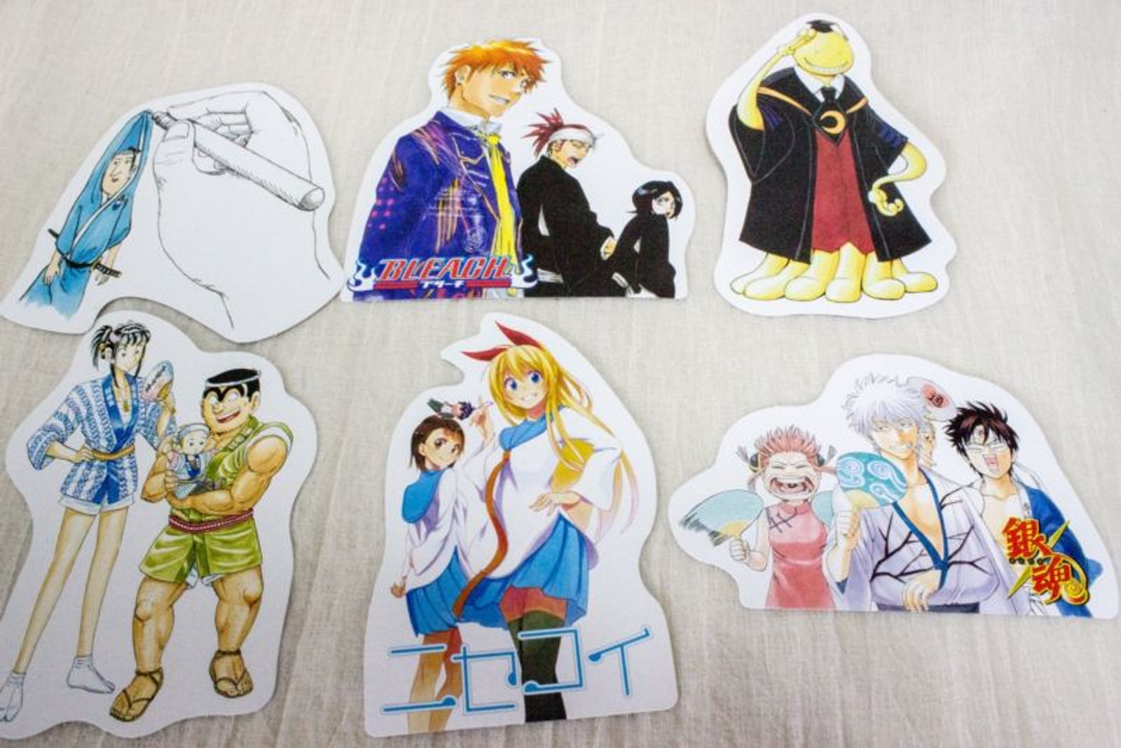 Set of 6 Shonen Jump Message Card / Nisekoi Gintama Bleach JAPAN ANIME MANGA