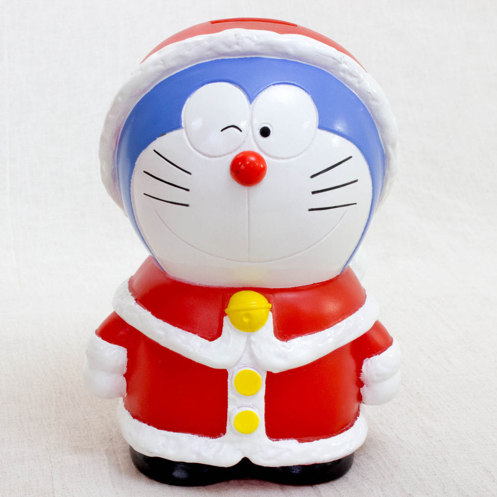 "Doraemon Christmas Santa Costume 5"" Figure Coin Bank JAPAN ANIME MANGA"