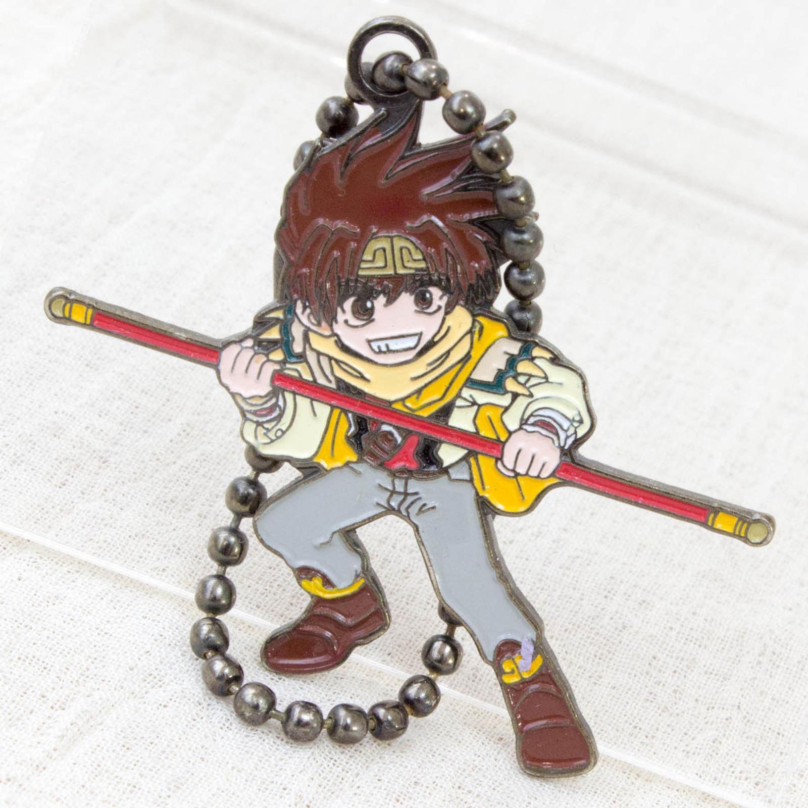 RARE! SAIYUKI Son Gokou Goku Metal Plate Mascot Ball Chain JAPAN ANIME MANGA