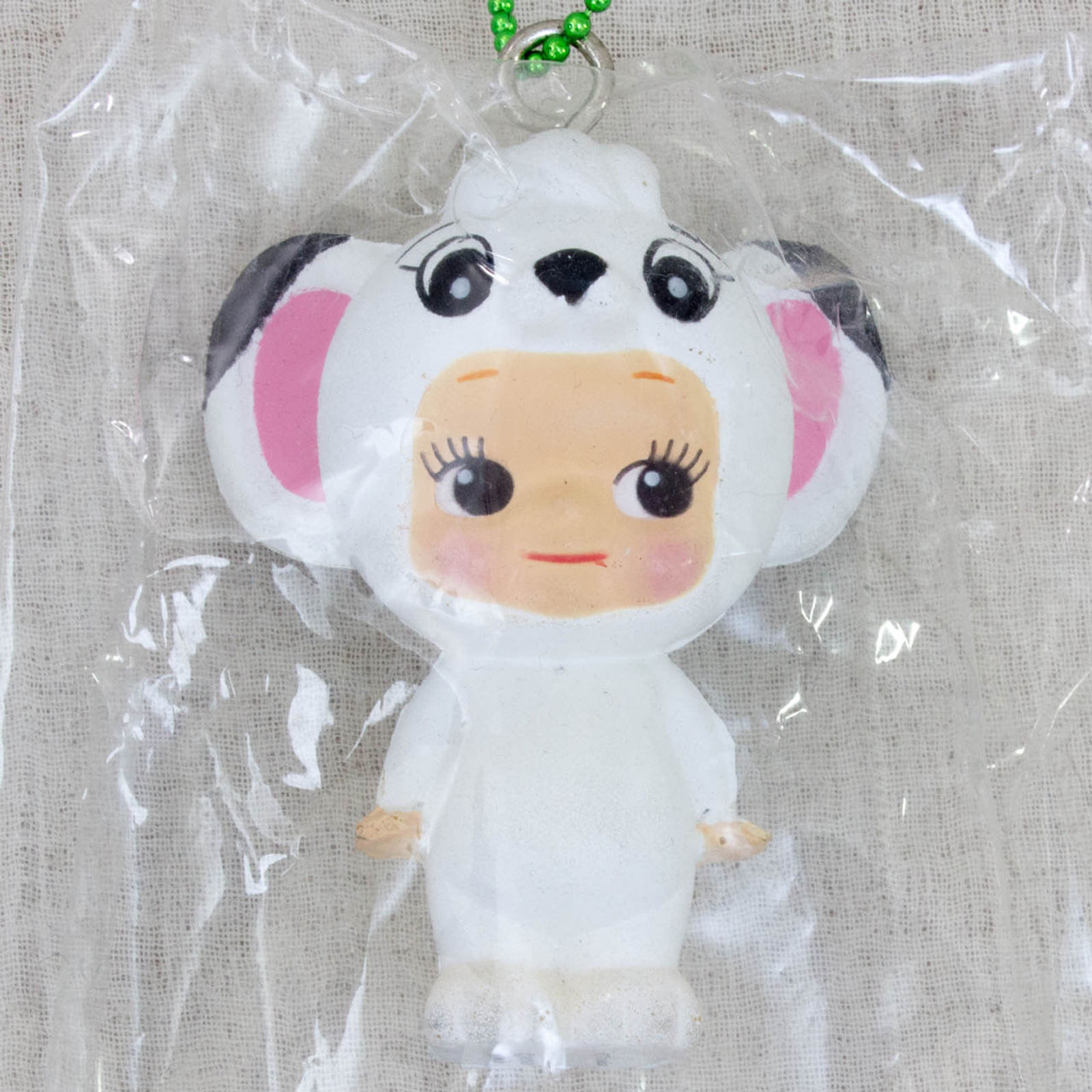 Jungle Emperor Leo Squeeze Figure Rose O'neill Kewpie Kewsion Keychain JAPAN