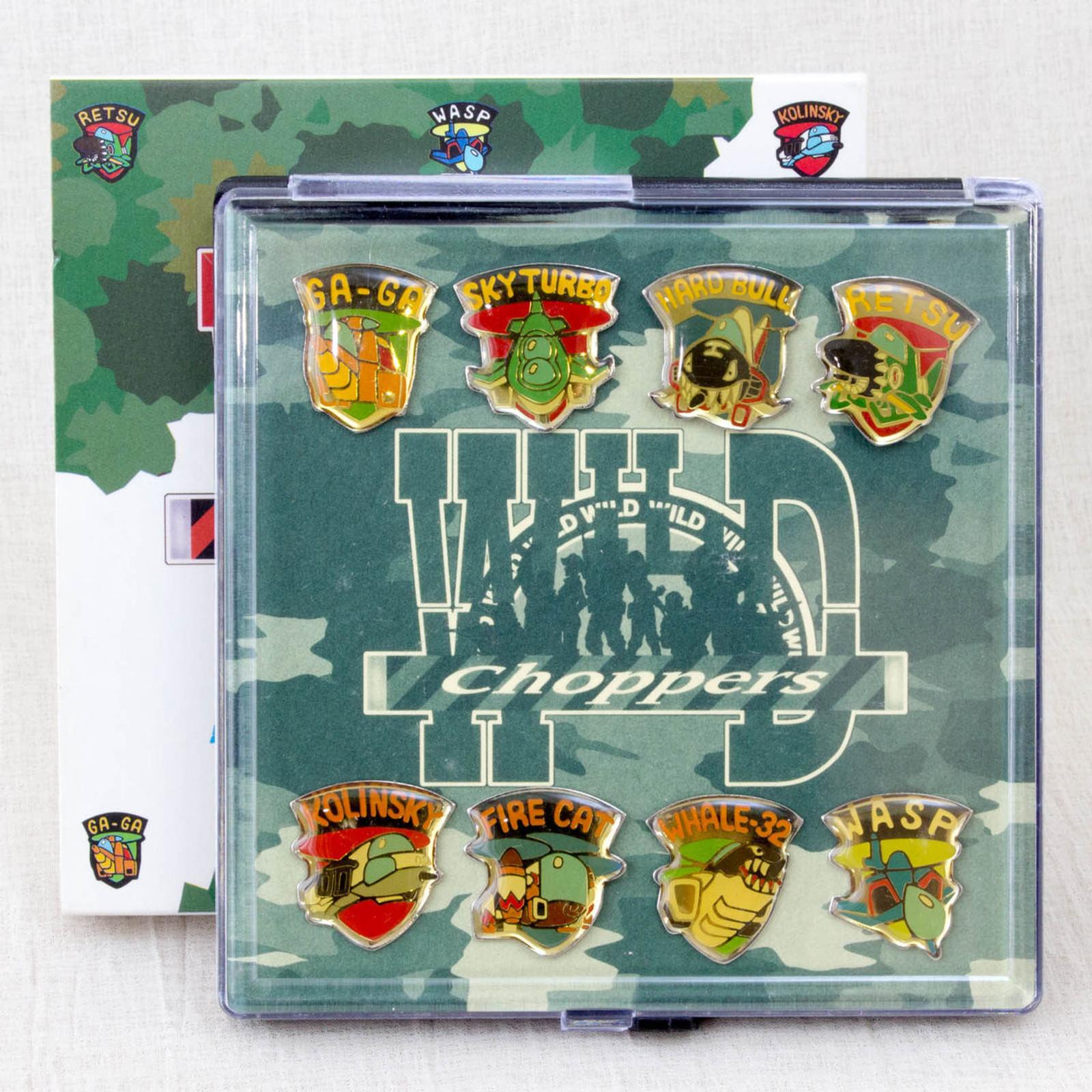 RARE! Wild Choppers Be Wild Man Pins 8pc set Seta 1997 Nintendo 64 GAME