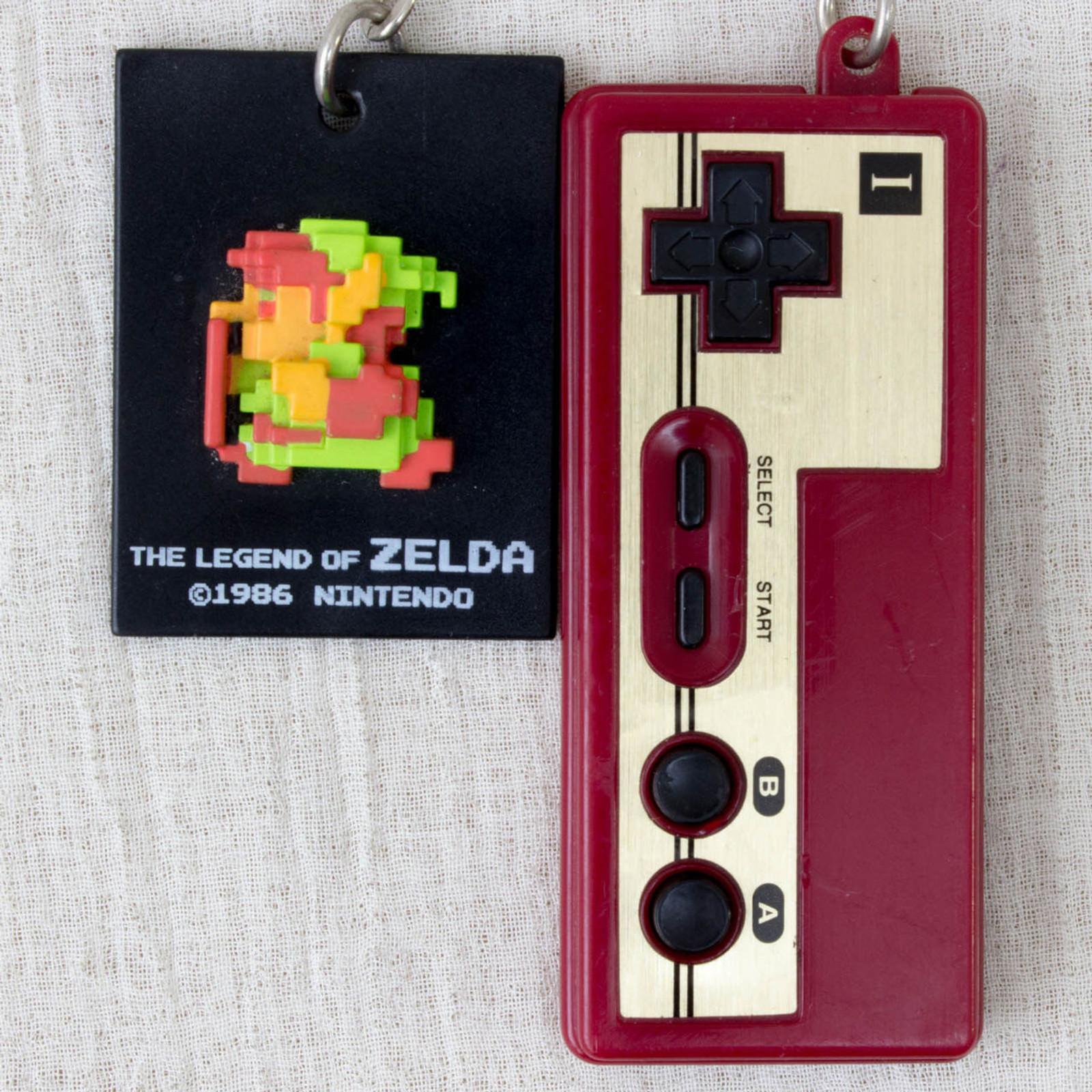 RARE! The Legend of Zelda + Famicom Controller Flute Sound Figure Keychain JAPAN