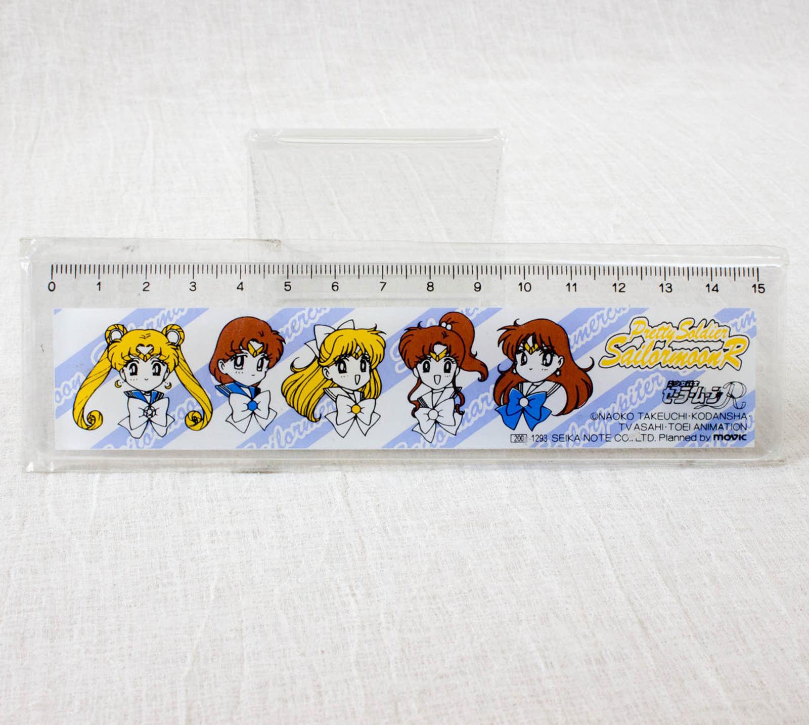 Retro RARE! Sailor Moon R Ruler 15cm SEIKA NOTE JAPAN ANIME MANGA