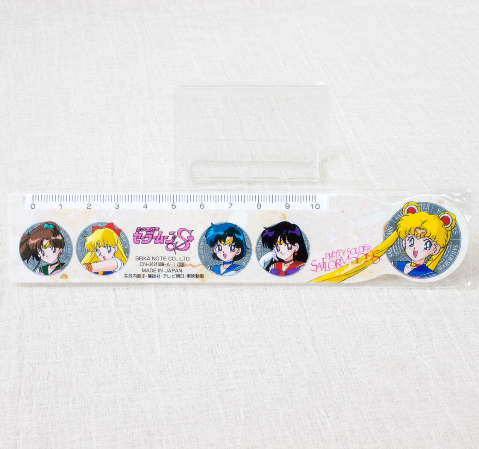 Retro RARE! Sailor Moon S Ruler 15cm SEIKA NOTE JAPAN ANIME MANGA
