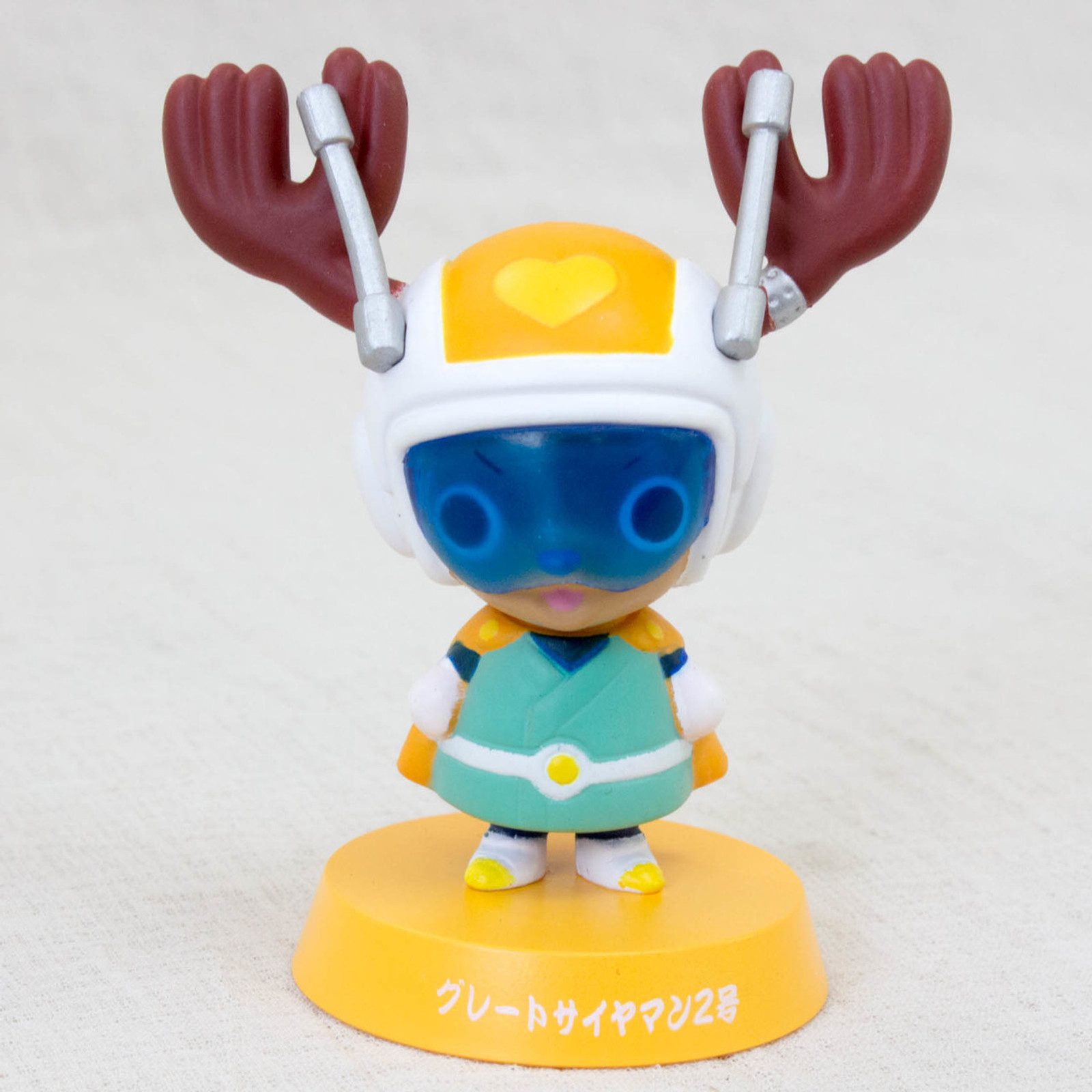 Dragon Ball Z x ONE PIECE Chopper Man x Great Saiyaman Bobble Head Figure JAPAN
