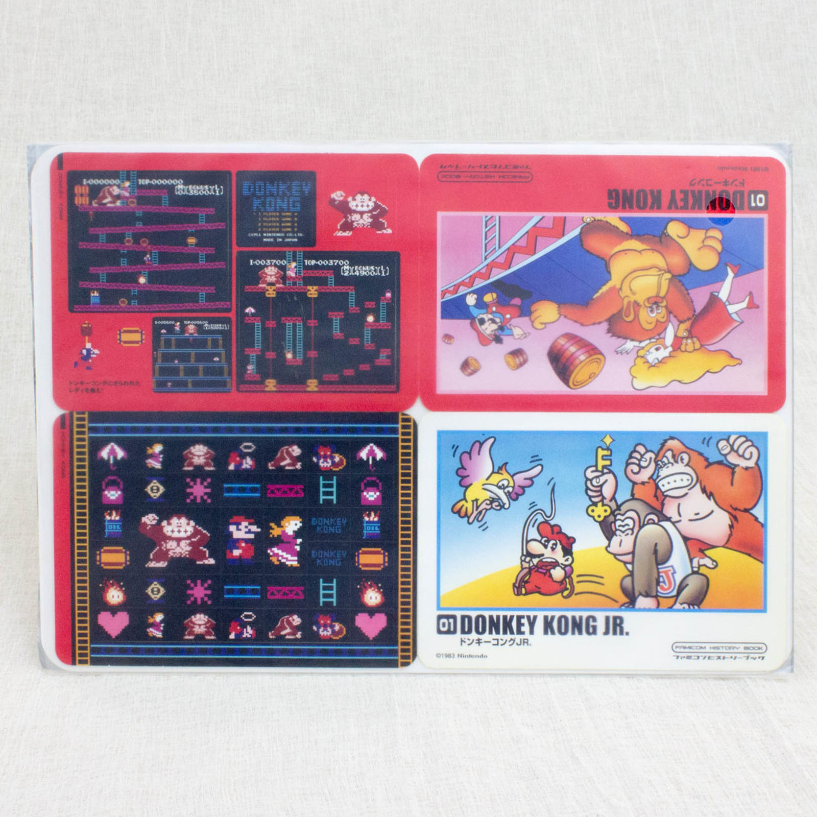 Donkey Kong Stickers Sheet Set JAPAN FAMICOM NES NINTENDO