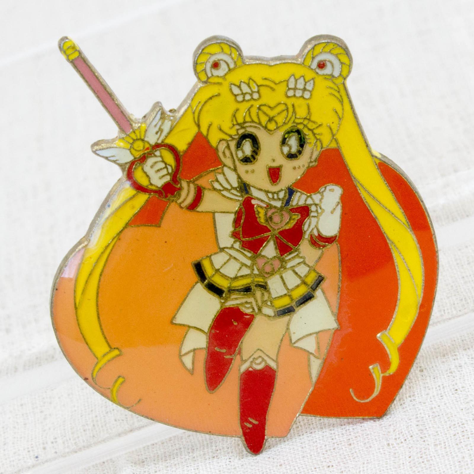 Pretty Soldier Sailor Moon Usagi Tsukino Metal Pins Badge JAPAN ANIME MANGA 4
