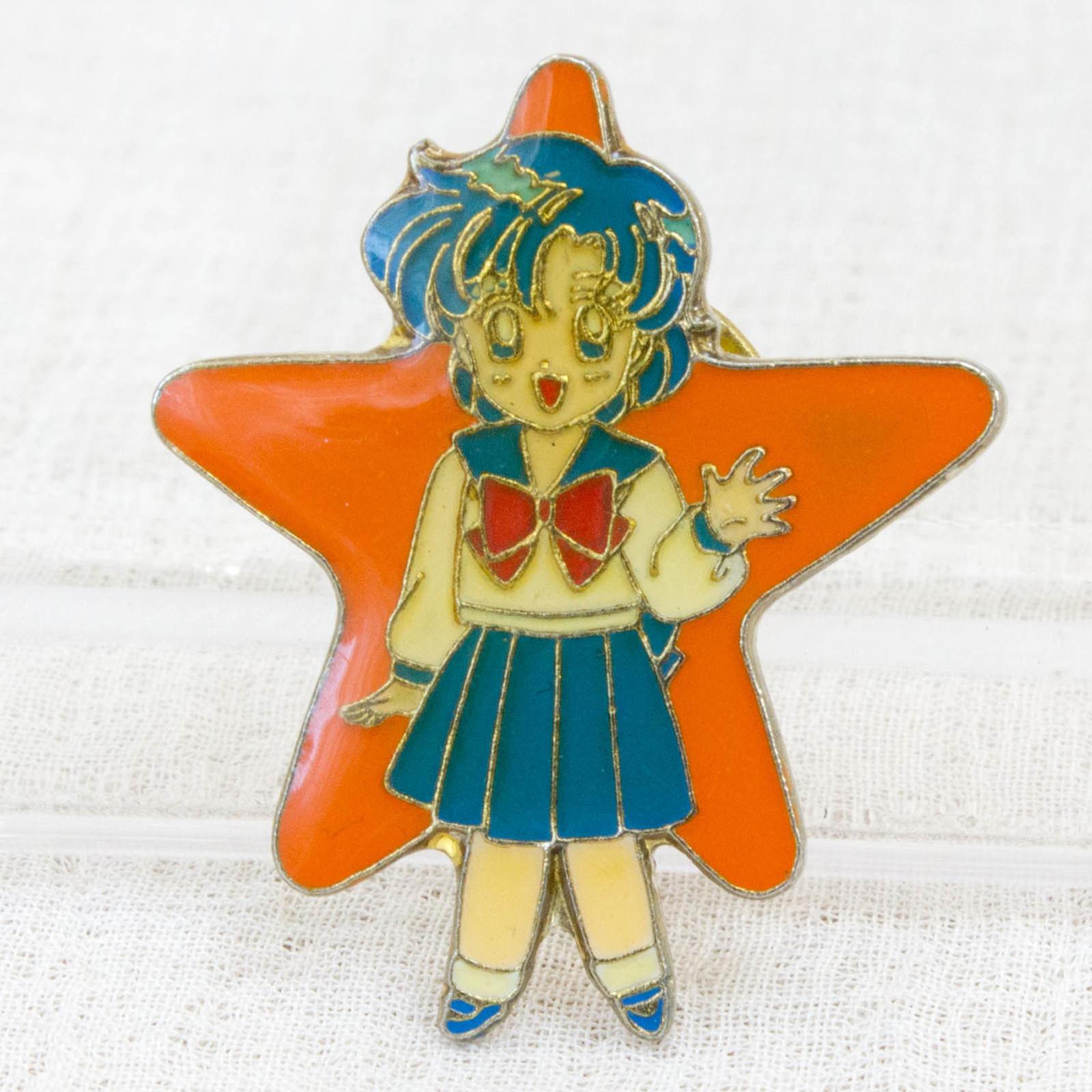 Pretty Soldier Sailor Moon Ami Mizuno Mercury Metal Pins Badge JAPAN ANIME