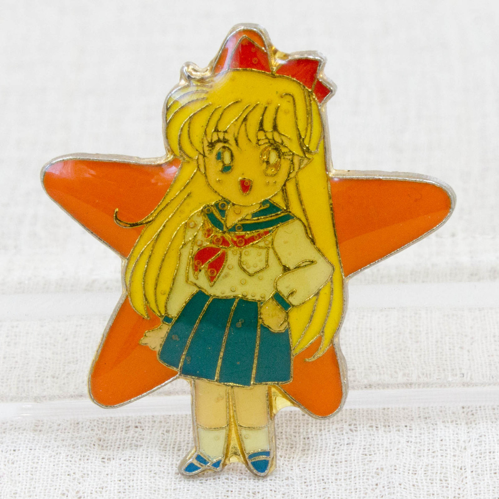 Pretty Soldier Sailor Moon Aino Minako Venus Metal Pins Badge JAPAN ANIME 1