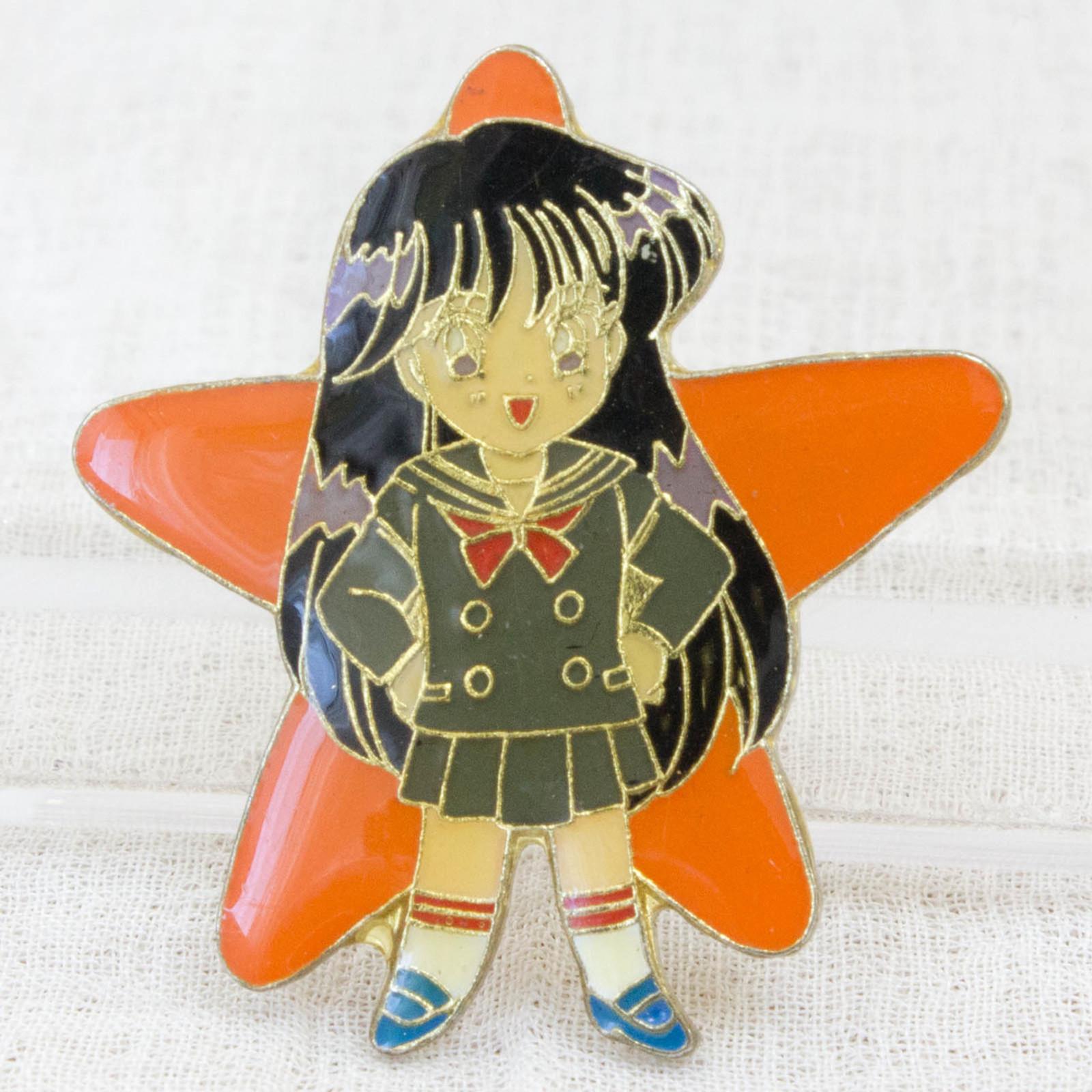 Pretty Soldier Sailor Moon Rei Hino Mars Metal Pins Badge JAPAN ANIME
