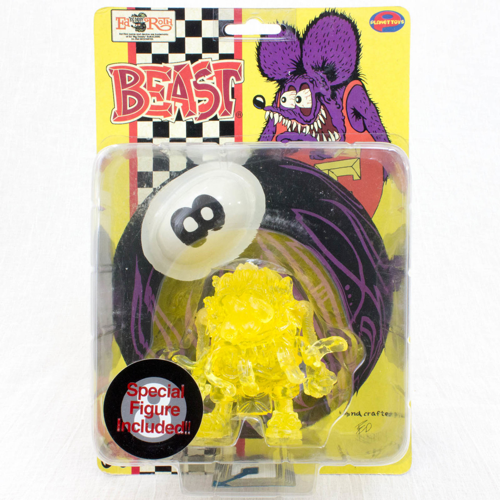 RAT FINK BEAST Action Figure Series Clear Ver. Planet Toys Art Storm 1998 JAPAN
