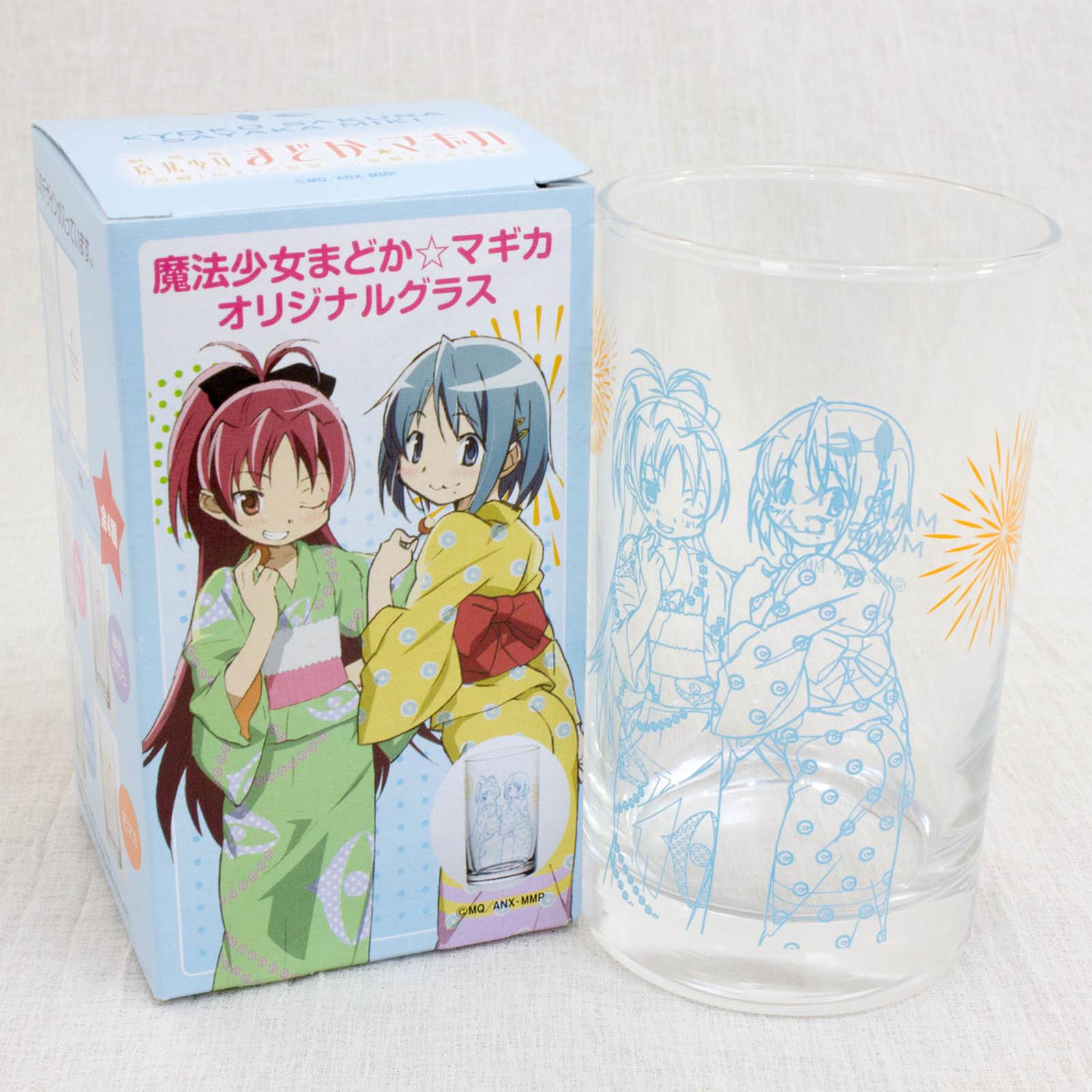 Puella Magi Magica Madoka Yukata Kimono Kyoko Sakura & Miki Sayaka Glass JAPAN
