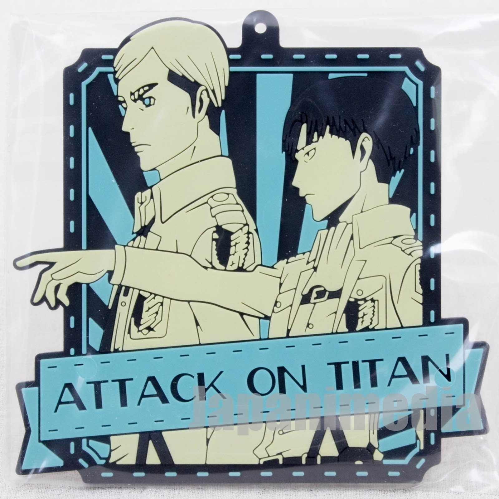 Attack on Titan Rubber Coaster Erwin Smith & Levi Banpresto JAPAN ANIME MANGA