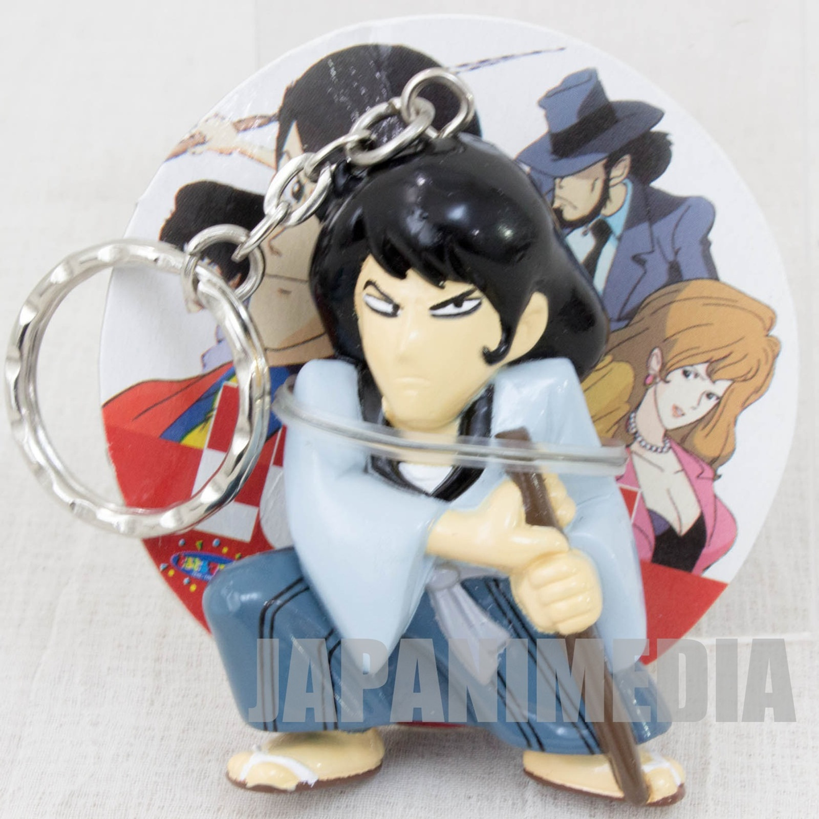 Lupin the Third (3rd) Goemon Ishikawa Figure Keychain Banpresto JAPAN ANIME MANGA
