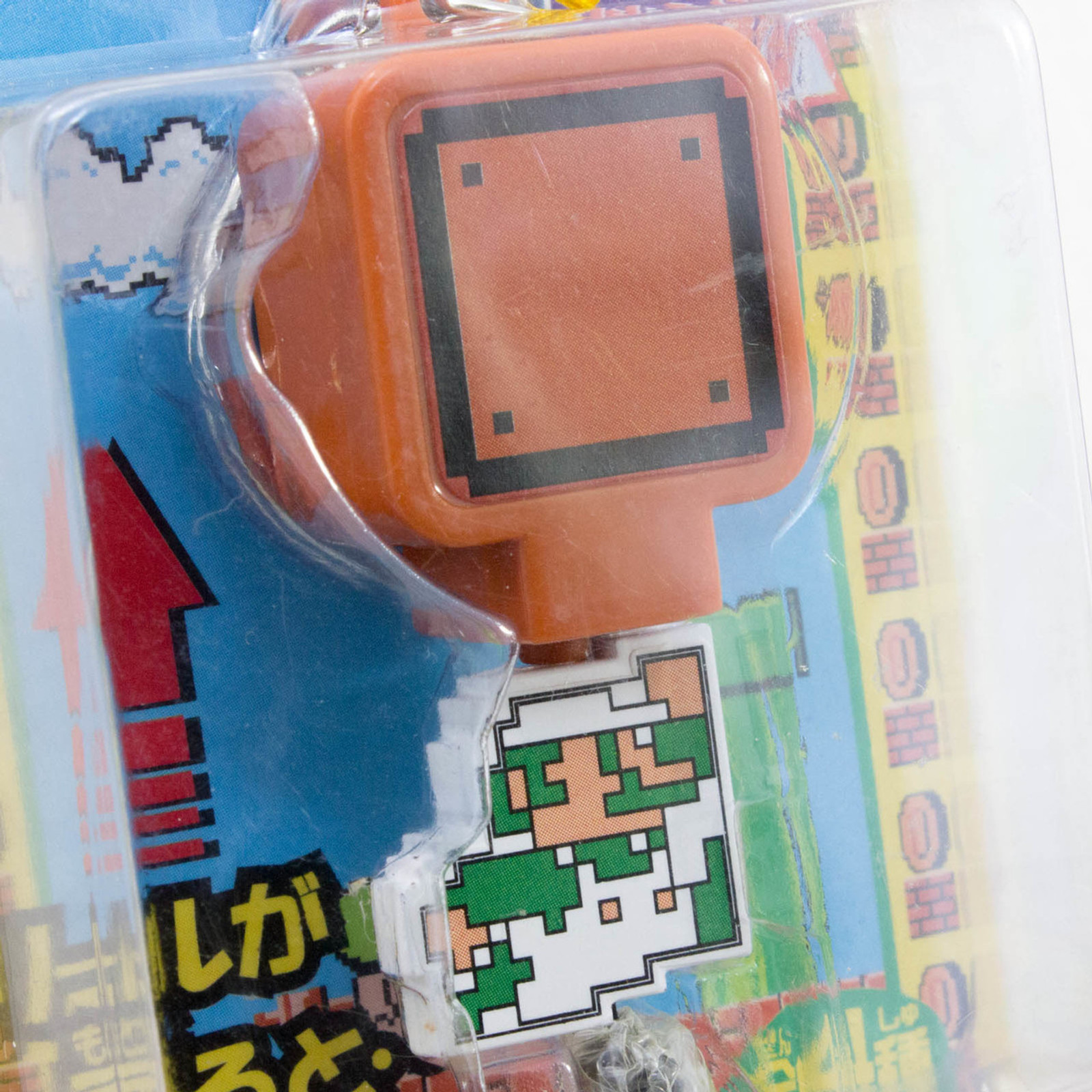 Super Mario Bros. Reel Action Pop-up Coin Keychain Luigi Nintendo JAPAN