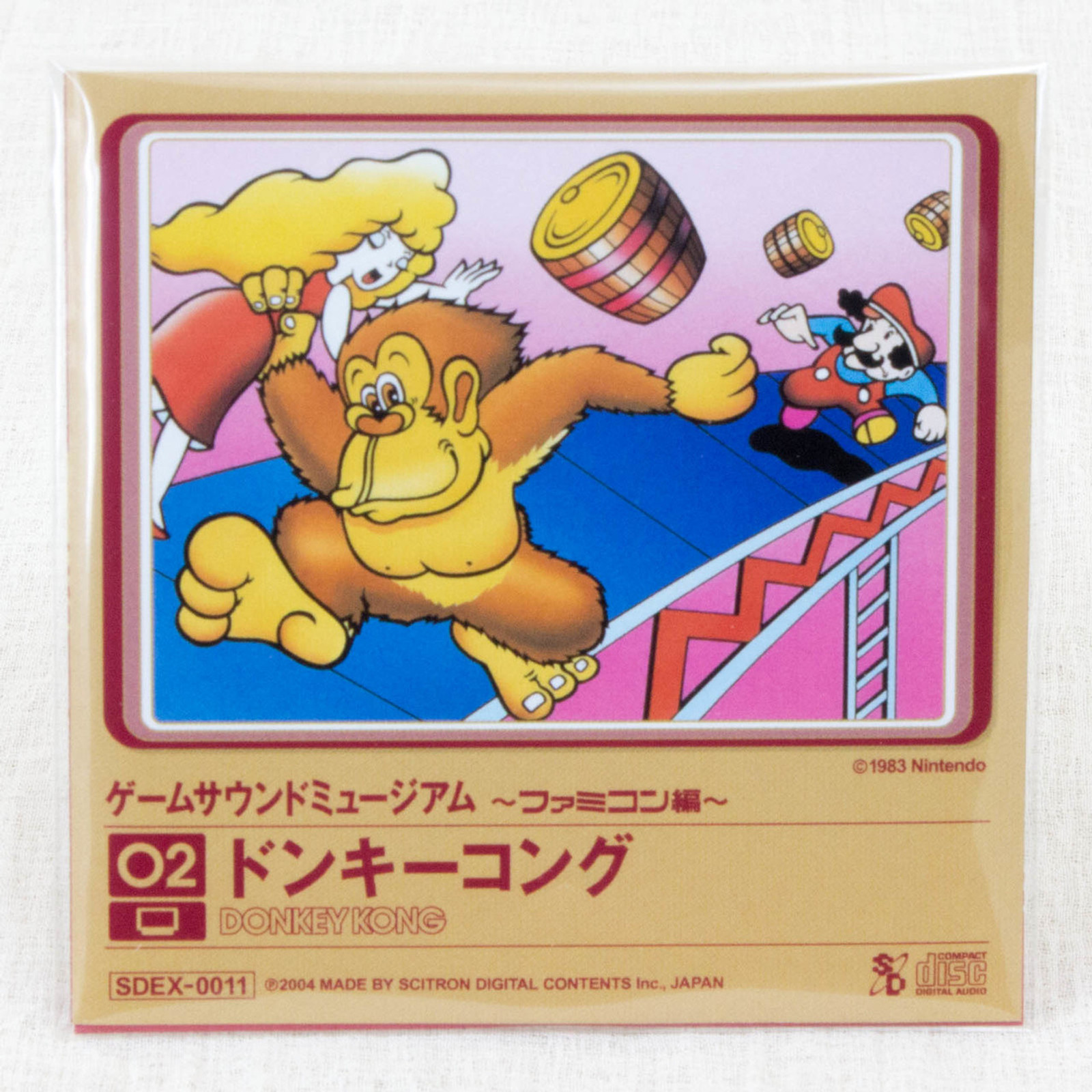Donkey Kong Game Sound Museum Nintendo Music 8cm CD JAPAN FAMICOM